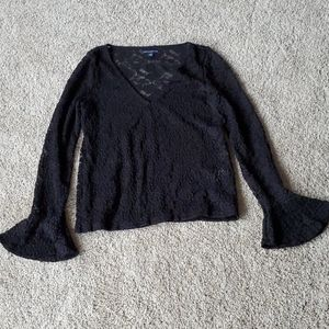 American eagle black blouse